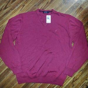 Nautica Mens Sweater Cotton V Neck Size XXL